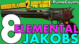 Top 8 Best Elemental Jakobs Guns and Weapons in Borderlands 2 and The Pre-Sequel! #PumaCounts