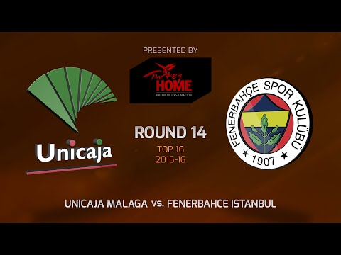 Highlights: Top 16, Round 14, Unicaja Malaga 71-67 Fenerbahce Istanbul