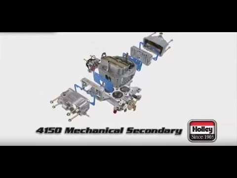 Overview of a Holley 4150 mechanical secondary carburetor, Double Pumper