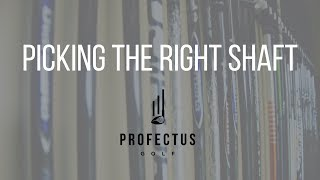 Picking the right driver shaft for your swing