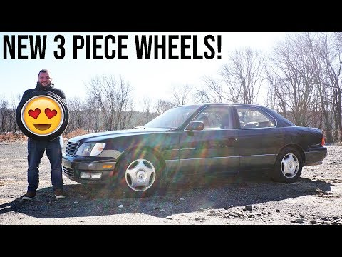 NEW WHEELS FOR THE LEXUS LS400!