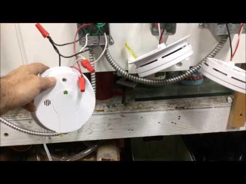 Como conectar varias  alarma de fuego en serie(Esmoke alarm)