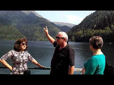 Фото видеогид На озере Рица с Мизаном Ашуба 20.09.19