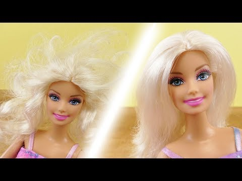 Barbie Haare reparieren | Wie werden verfilzte Haare wieder schön? DIY Barbie Idee