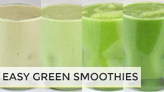 GREEN SMOOTHIES 4 WAYS| easy healthy breakfast ideas