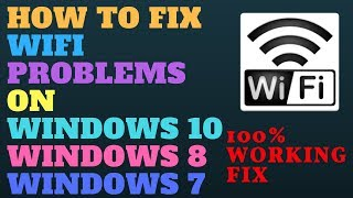 How To Fix wifi is not Connecting and Not Working on my