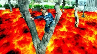 VLOG ПОЛ ЭТО ЛАВА ЧЕЛЛЕНДЖ  The Floor is Lava Challenge at the Playground Park for Kids