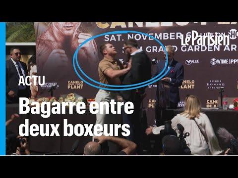 Une bagarre éclate entre deux boxeurs pendant une conférence de presse