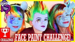 MY LITTLE PONY RAINBOW DASH FACE PAINT CHALLENGE!  |  KITTIESMAMA