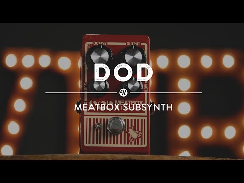 Dod Meatbox SubSynth Pedal | Reverb Video Demo