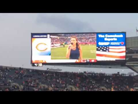National Anthem at the Bears vs. Browns preseason game 2017