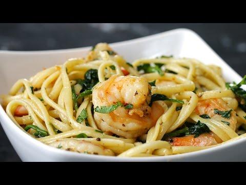 Video One-Pot Lemon Garlic Shrimp Pasta
