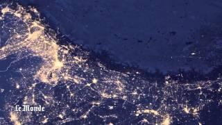 La terre illuminée, images de la Nasa