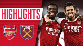 HIGHLIGHTS | Arsenal vs West Ham (2-1) | Lacazette, Antonio, Nketiah
