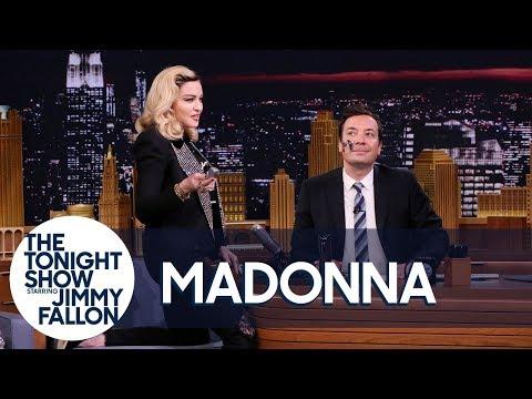 Madonna Serenades Jimmy as She Gives Him a MDNA Facial