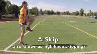 A Skip Running Form Drill Demonstration