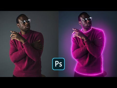 photo manipulation  how to create glowing outlines on portrait image by sporsho art