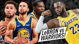Warriors Team Met NEW LAKERS LeBron James! EPIC Battle Highlights (2018.10.10) - MUST WATCH