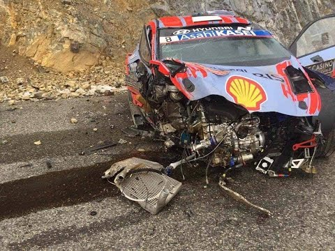 Rally de Montecarlo - Accidente de Ott Tänak