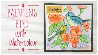How To Paint a Bird in Watercolour | Watercolour Painting | diywithkanchan
