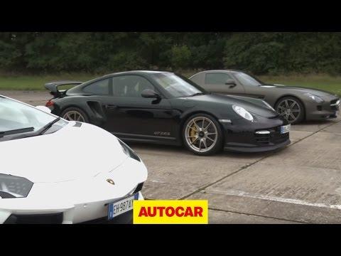 Lamborghini Aventador vs 911 GT2 RS vs Mercedes SLS Comparison