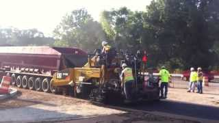 Stadium Drive Reconstruction - First Layer of Road Asphalt - Kalamazoo, Michigan