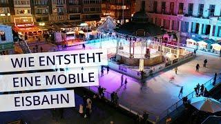 Wie entsteht eine mobile Eisbahn? – Eisbahn Aufbau