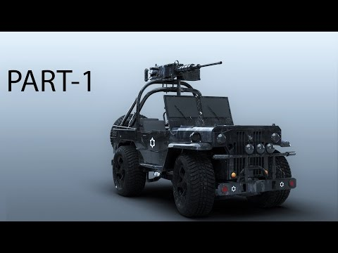 Modeling Jeep 3ds max tutorial part – 1