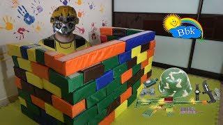 Домашние сражения игрушек ↑ Военные солдатики, нёрфы, роботы, крепость ↑ Обзор игрушек