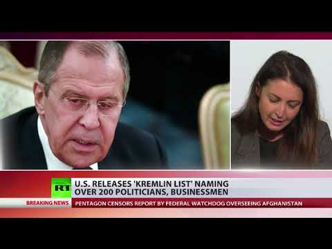 US releases 'Kremlin List' naming over 200 politicians