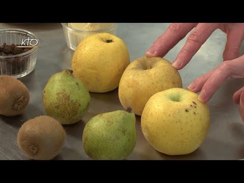 Soupe couscous et crumble aux fruits de saison