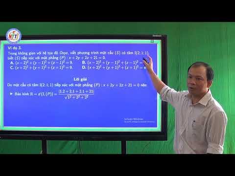 Toán 12 - Phương trình mặt phẳng