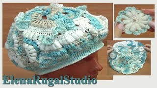 Crochet Beret Hat Freeform Tutorial 94