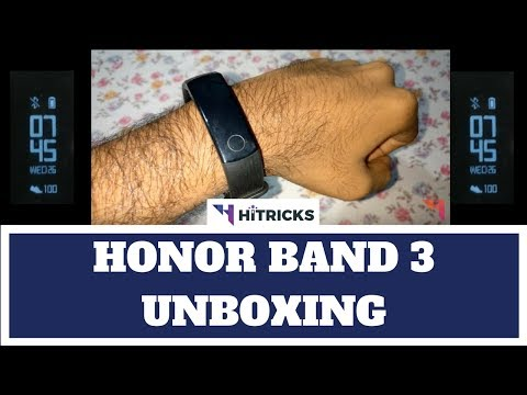 Honor Band 3 Activity Tracker Unboxing and First Impressions (4K)