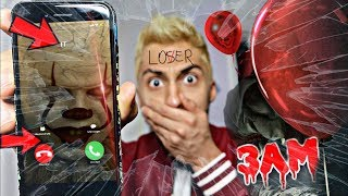 PENNYWISE FROM IT MOVIE CALLED ME AT 3AM!! AND I *ANSWERED OMG*