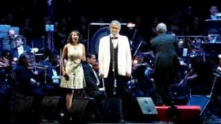 Andrea Bocelli y Gabi Moreno.