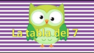 LA TABLA DEL 7 APRENDEMOS LAS LAS TABLAS DE MULTIPLICAR  EN UN MINUTO