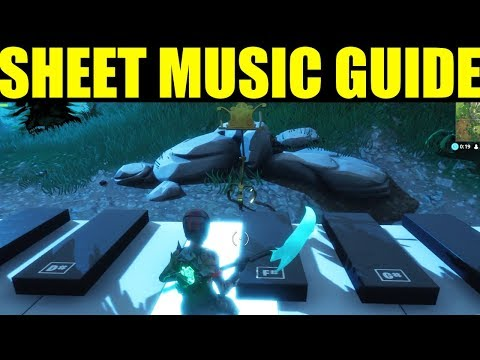 Fortnite Battle Royale All Sheet Music Piano Locations