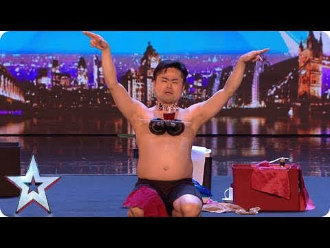 Mr Uekusa gives us a strip show with a twist! | Auditions Week 1 | Britain's Got Talent 2018 (видео)