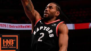 Toronto Raptors vs Detroit Pistons Full Game Highlights | March 17, 2018-19 NBA Season