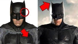 Batman vs Superman - Justice League - Batsuit Comparison In Depth Analysis