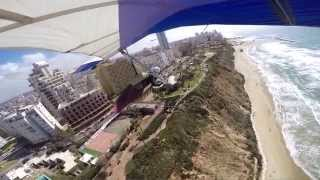 preview picture of video 'דאיית רכס נתניה 28 2 Hang Gliding: Netanya ridge soaring 2015'