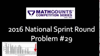 2016 Mathcounts National Sprint Problem #29