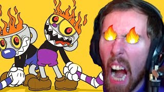Asmongolds BIGGEST BLOW UP EVER Breaking A Controller Playing Cuphead