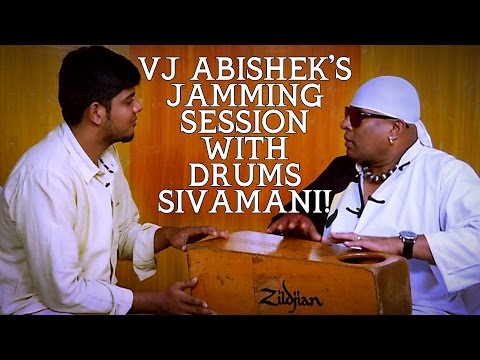 VJ-Abisheks-jamming-session-with-Drums-Sivamani-29-02-2016
