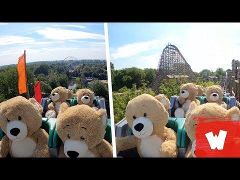 Teddy Bears Enjoy a Roller Coaster Ride