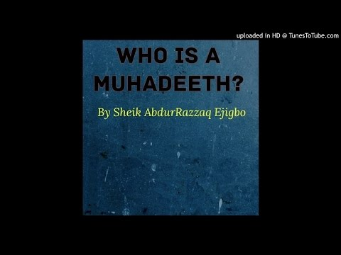Who is Muhaddith (Jabata deception)