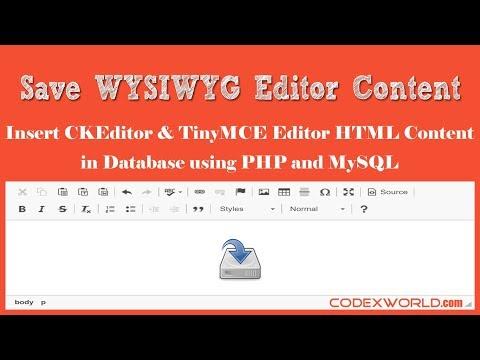 Laravel Tutorial - Filemanager/ Image Upload with a WYSIWYG Editor