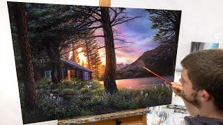 Landscape Painting Time-lapse   Blissful Solitude