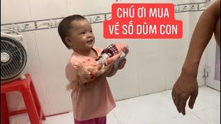 Con gái rượu Khương Dừa đi bán vé số, diễn đủ trò để khách mua!!!